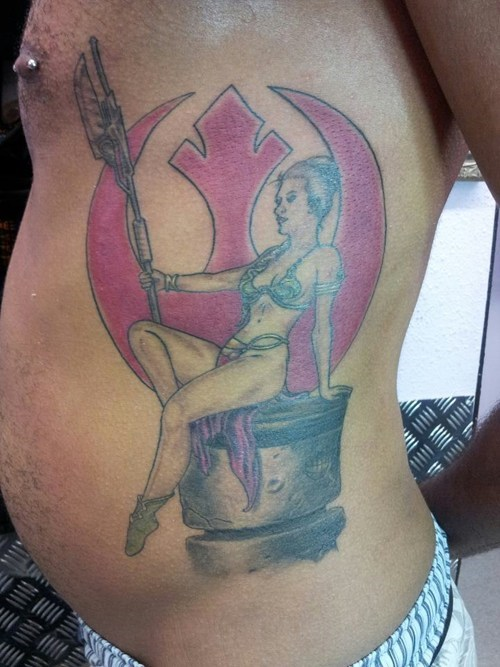 star wars,leia,tattoos,funny,g rated,Ugliest Tattoos