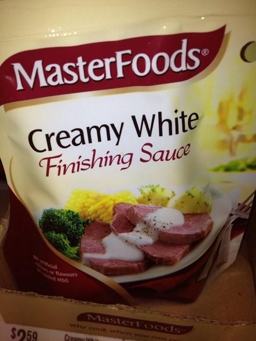 masterfoods creamy white finishing sauce - 7704400640