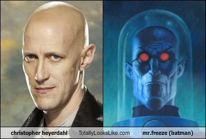 bald,mr freeze,totally looks like,christopher heyerdahl,funny