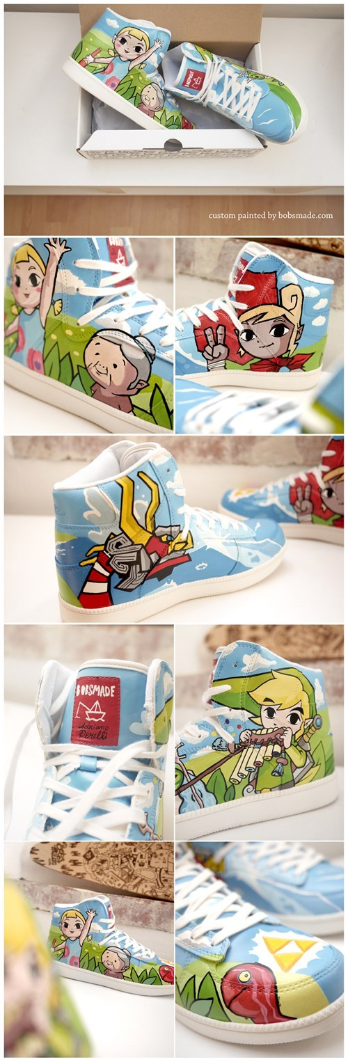 sneakers,zelda,wind waker