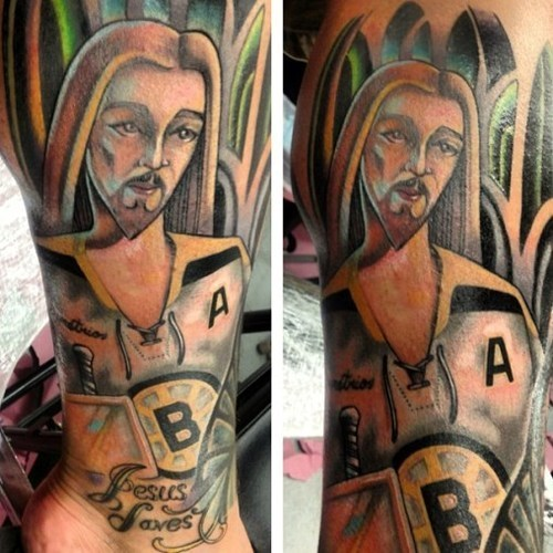 jesus Boston Bruins tattoos funny