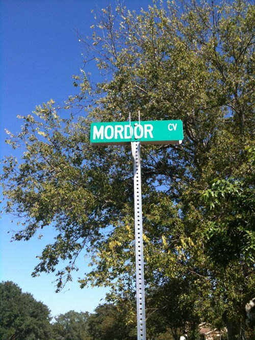 mordor,sign,Lord of the Rings,one does not simply,nerdgasm,funny