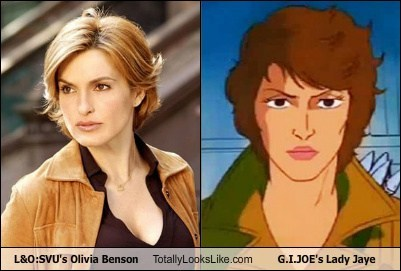 Lady Jaye olivia benson Law and Order SVU totally looks like GI Joe funny
