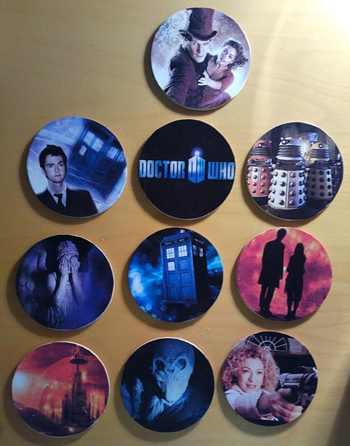 coasters doctor who DIY funny