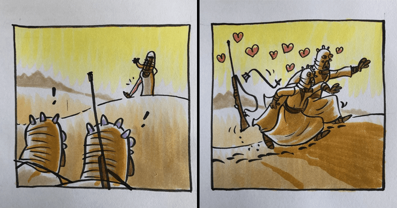 Cute comic star wars, tusken raiders, jawas.