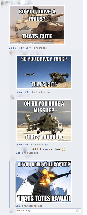 Prius helicopters tanks military army failbook