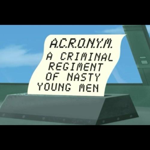 cartoons,futurama,acronyms