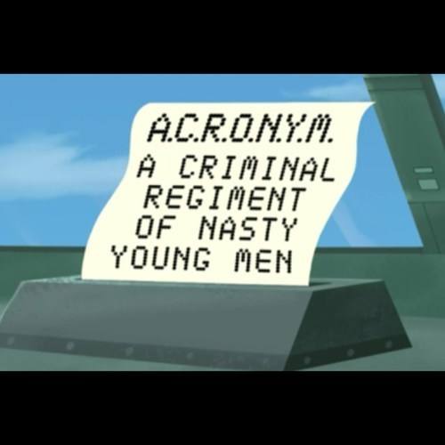 cartoons futurama acronyms - 7706492928