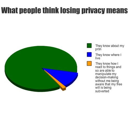 What people think losing privacy means