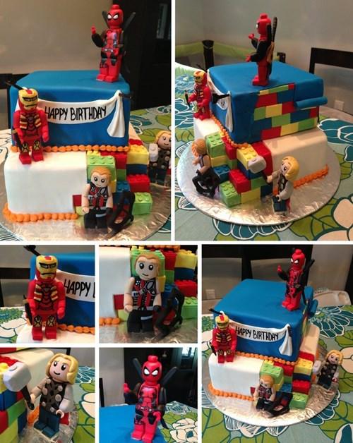 marvel lego cakes noms - 7706713344