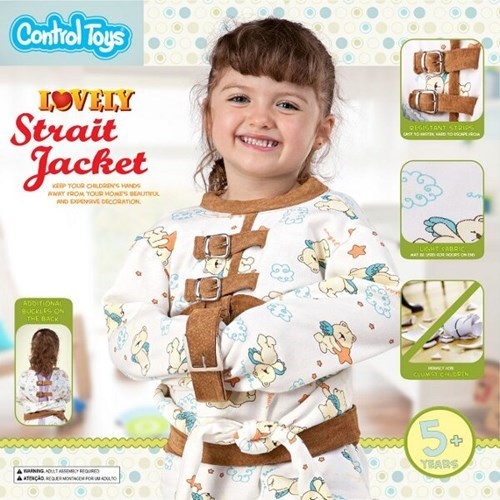 straight jacket,kiddie straight jacket,restraint,poorly dressed,g rated