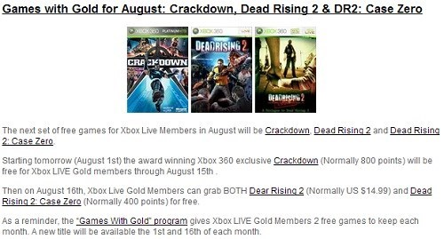 news Dead Rising 2 Video Game Coverage games for gold crackdown microsoft - 7706793984