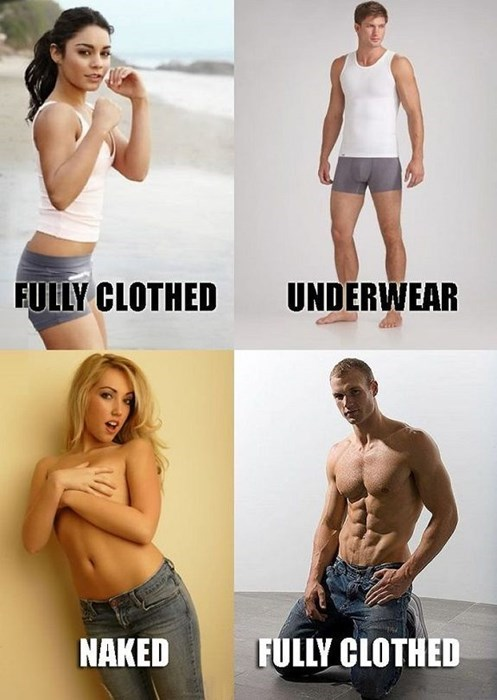 not clothed,clothed,small differences