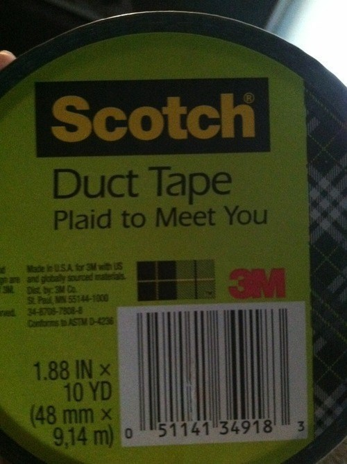 puns,plaid,product names,duct tape,funny