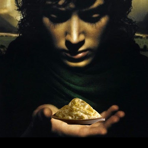 frodo Fettuccine Alfredo Lord of the Rings puns funny - 7706930688