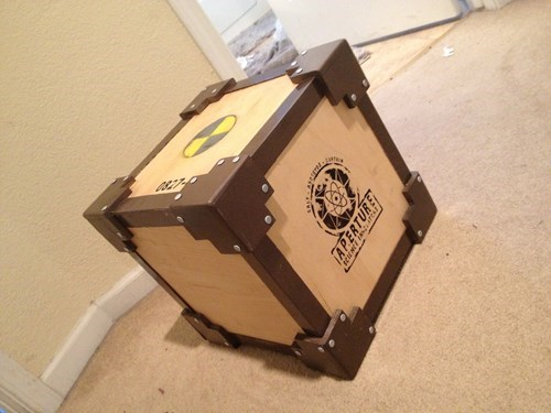 companion cube,aperture science,DIY,video games,portal 2