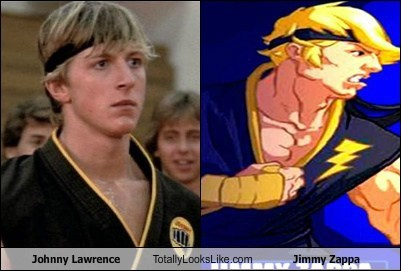 johnny lawrence Karate Kid totally looks like jimmy zappa funny