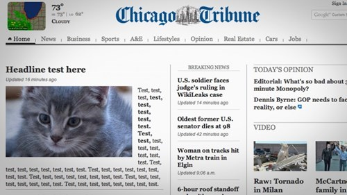 News FAIL of the Day: This Just in From The Chicago Tribune...