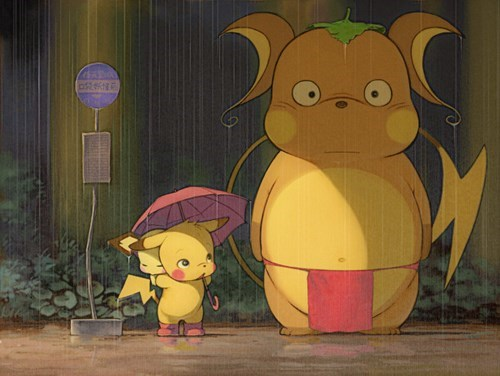 crossover Pokémon anime my neighbor totoro - 7707304960