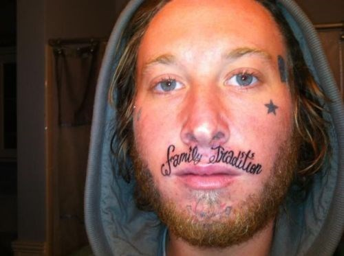 wtf,tattoos,face tats,funny,g rated,Ugliest Tattoos