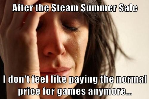 After the Steam Summer Sale I don't feel like paying the normal price for games anymore...