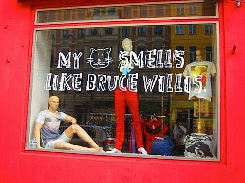 weird signs,bruce willis
