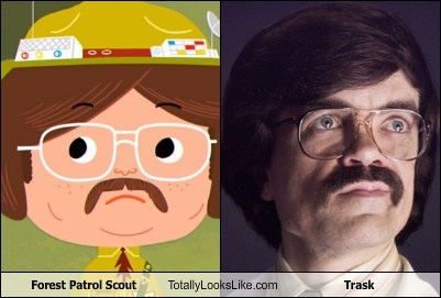 forest patrol scout,totally looks like,mustaches,trask,funny