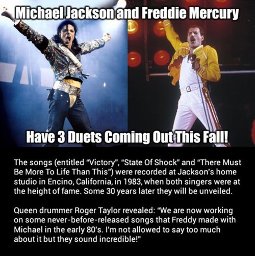 freddie mercury,michael jackson,duets