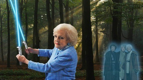star wars golden girls betty white bea arthur Jedi - 7709725440