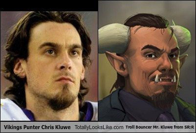 chris kluwe totally looks like shadowrun returns viking trolls funny