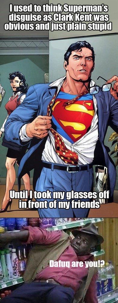 glasses sad but true funny superman - 7710070528