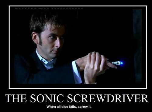 sonic screwdriver TV doctor who funny