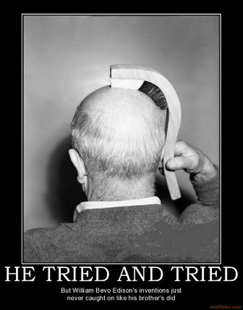 hair,thomas edison,invention,funny