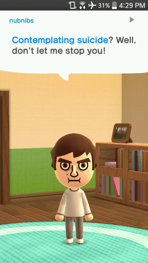 humor,miitomo,Video Game Coverage,trolling,social media,video games,nintendo