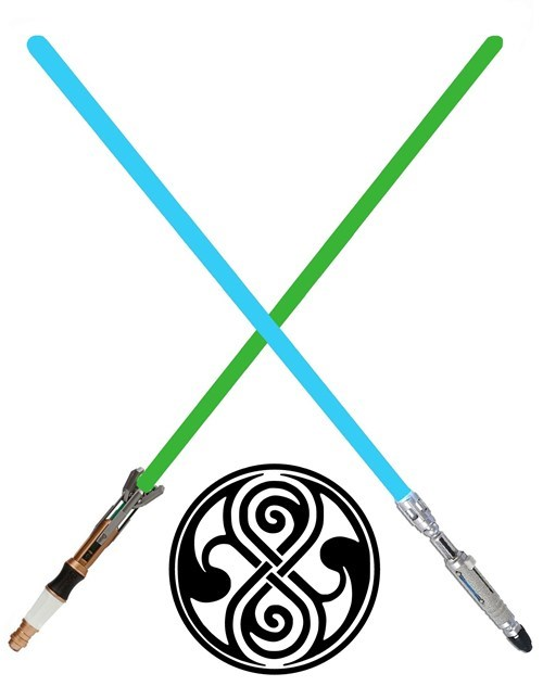 sonic screwdriver,crossover,star wars,lightsabers,doctor who,seal of rassilon