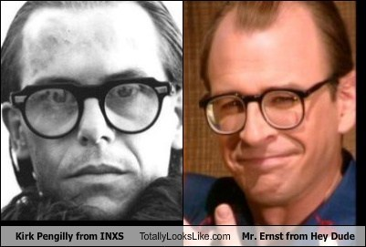 hey dude,inxs,kirk pengilly,mr-ernst,totally looks like,funny