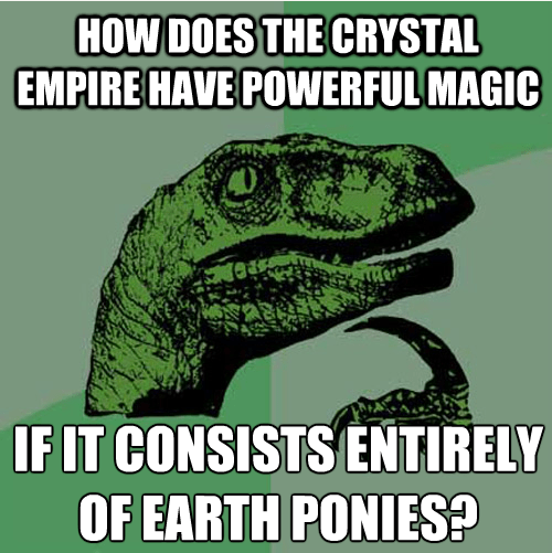 crystal empire,earth ponies,philosoraptor