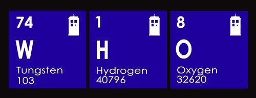 doctor who science periodic table of the elements - 7712109056
