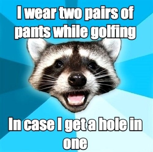 golfing pun hole in one - 7712182528