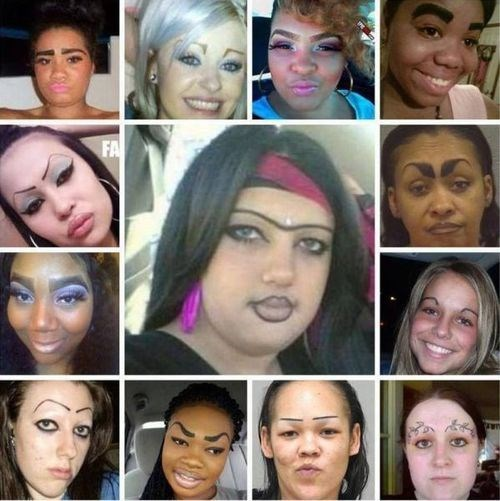 FAILS pencil eyebrows poorly dressed g rated - 7712238080