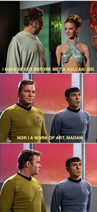 Spock kirk Leonard Nimoy Star Trek William Shatner - 7712262400