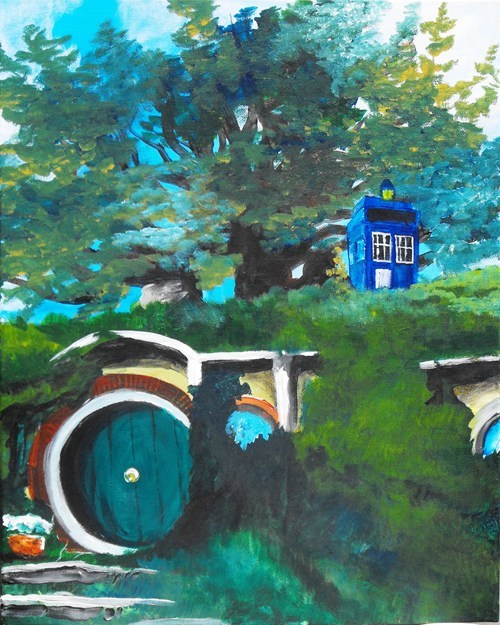 crossover Fan Art The Hobbit doctor who - 7712318976