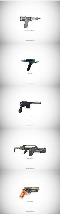 guns Aliens star wars Blade Runner Star Trek - 7712335872