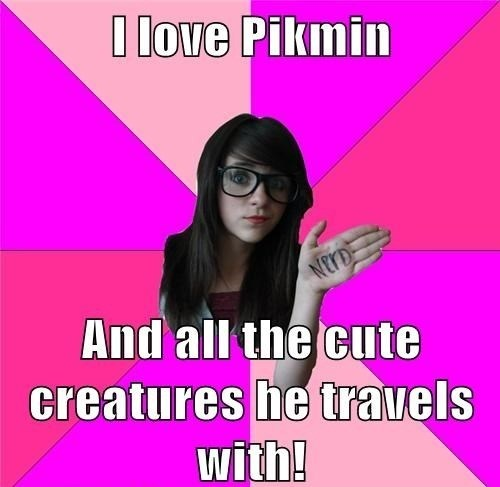 I love Pikmin And all the cute creatures he travels with!