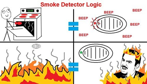 are you kidding me fire smoke detector herpderp