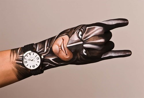 art,body paint,nerdgasm,batman,painting,funny