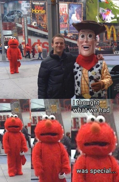 woody toy story IRL elmo - 7712786944