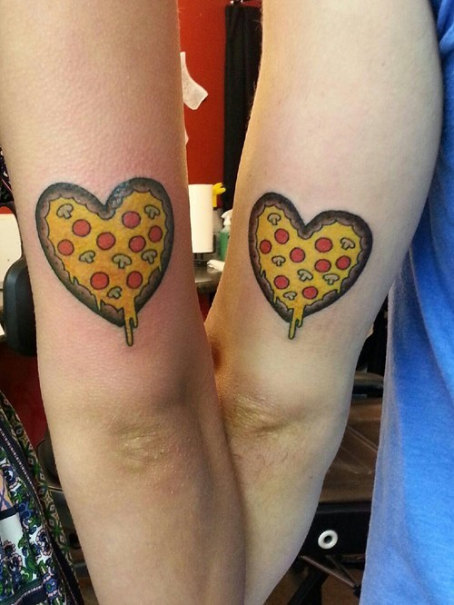 pizza cute tattoos hearts funny - 7712789248