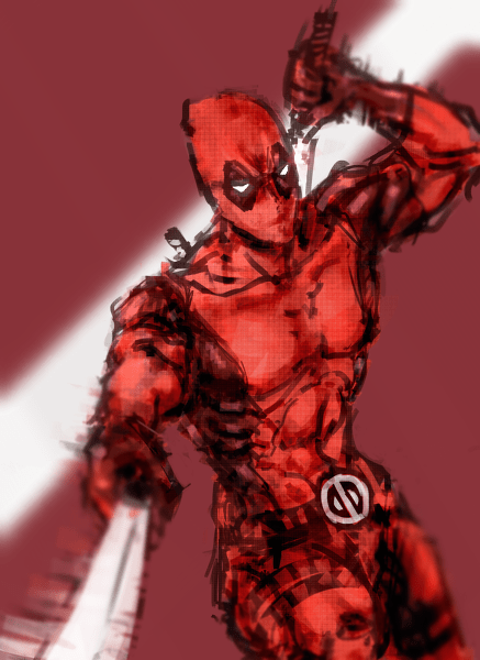 marvel deadpool Fan Art - 7712791296
