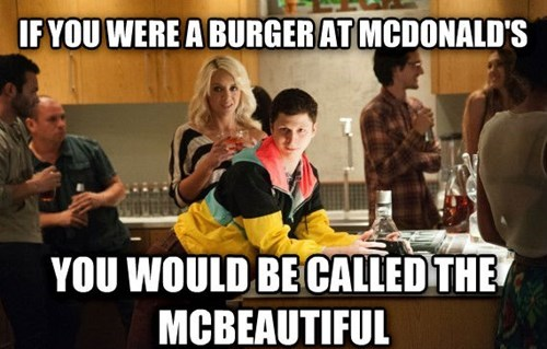 pickup lines michael cera McDonald's this is the end - 7712911360